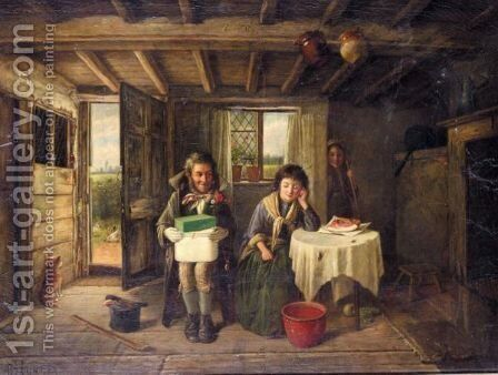 The Suitor by Charles Hunt - Reproduction Oil Painting
