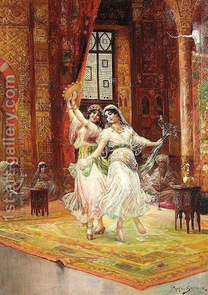 Harem Dancers by Stephan Sedlacek - Reproduction Oil Painting