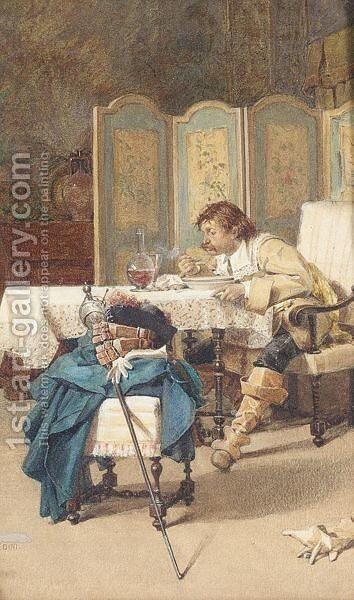 The Cavalier by Giovanni Paolo Bedini - Reproduction Oil Painting