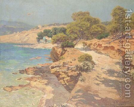 Cote De Provence by (after) Carlo Brancaccio - Reproduction Oil Painting