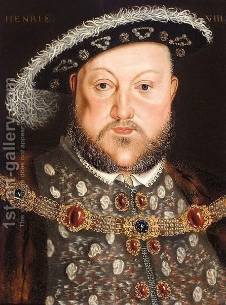 Portrait Of King Henry VIII (1491-1547) by (after) Holbein the Younger, Hans - Reproduction Oil Painting