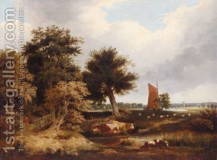 Postwick Grove by (after) George Vincent - Reproduction Oil Painting