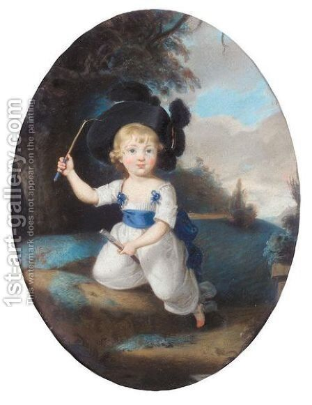 Portrait Of Laurence Sullivan As A Child by Sir Thomas Lawrence - Reproduction Oil Painting