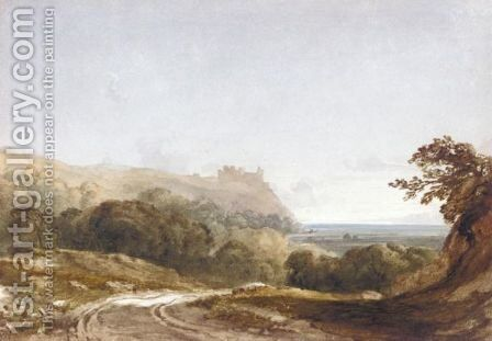 Harlech Castle From The North, Merionethshire by Anthony Vandyke Copley Fielding - Reproduction Oil Painting