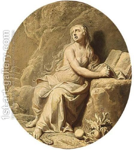 Mary Magdalena by Dutch School - Reproduction Oil Painting