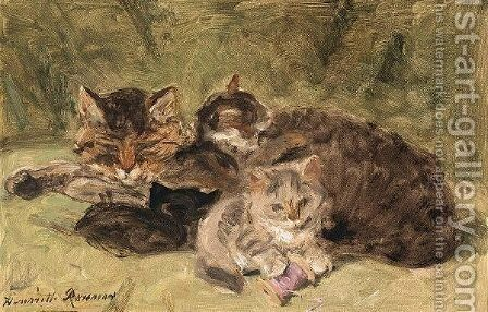 A Peaceful Moment by Henriette Ronner-Knip - Reproduction Oil Painting