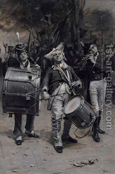 American Revolutionaries by Edward Percy Moran - Reproduction Oil Painting