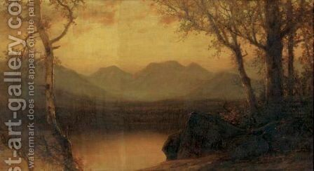 Lake In The Mountains 2 by James David Smillie - Reproduction Oil Painting