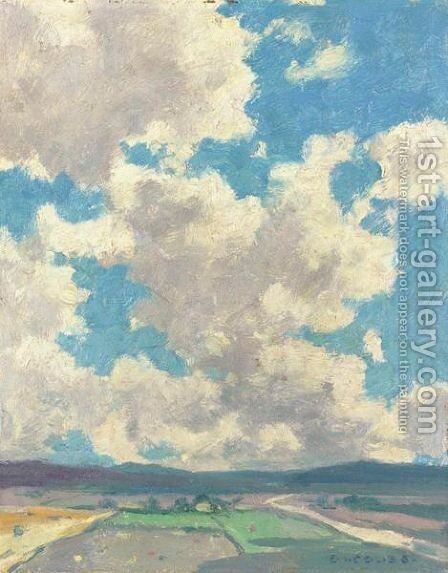 Clouds Over Taos Valley by Eanger Irving Couse - Reproduction Oil Painting