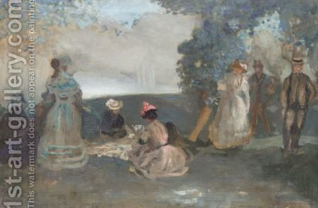 Dejeuner Sur L'Herbe by Charles Edward Conder - Reproduction Oil Painting