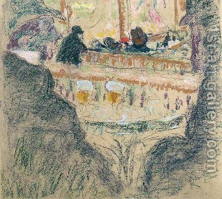 Scene De Cafe by Edouard  (Jean-Edouard) Vuillard - Reproduction Oil Painting