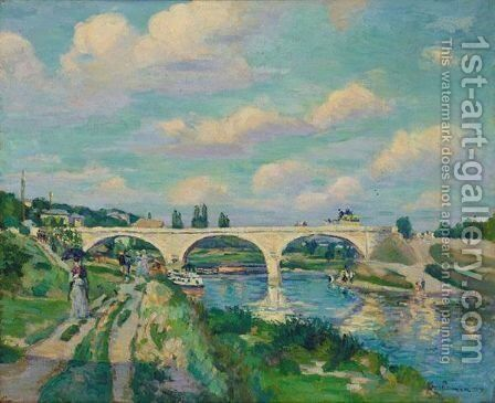 Port Sur L'Oise A Compiegne by Armand Guillaumin - Reproduction Oil Painting