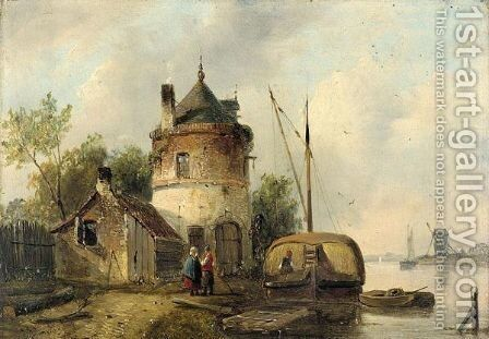 Paysage Hollandais by Johan Barthold Jongkind - Reproduction Oil Painting