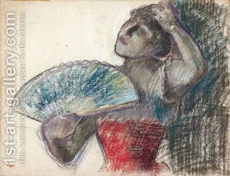 Danseuse A L'eventail 2 by Edgar Degas - Reproduction Oil Painting