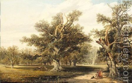 Windsor great park by (after) George Vincent - Reproduction Oil Painting