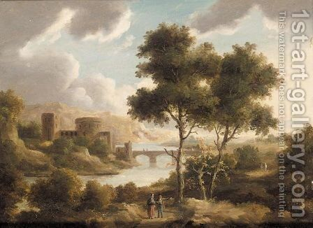 A view on the rhine by (after) James Arthur O'Connor - Reproduction Oil Painting
