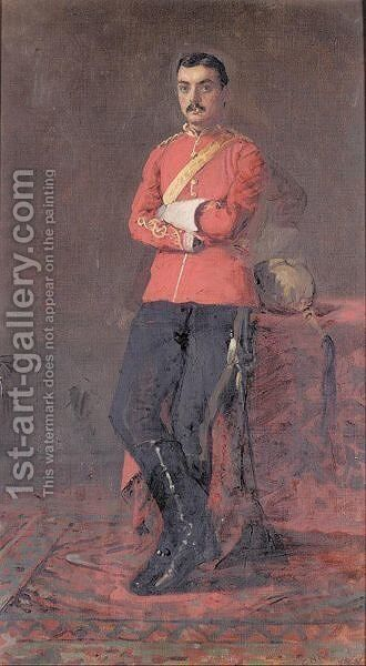 Portrait of colonel by Charles Napier Kennedy - Reproduction Oil Painting