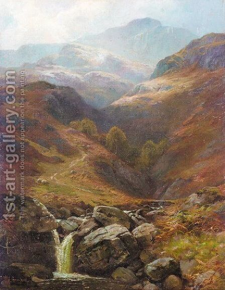 Highland stream by James Henry Crossland - Reproduction Oil Painting