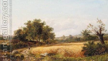 A golden harvest by (after) Edward Charles Williams - Reproduction Oil Painting
