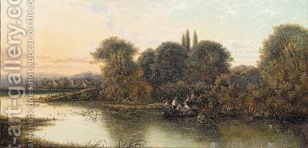 An Autumn evening by Edwin Henry Boddington - Reproduction Oil Painting