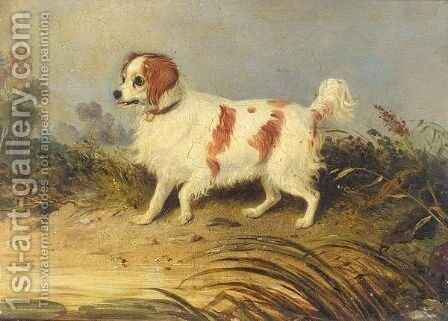 Spaniel by (after) William Edward Webb - Reproduction Oil Painting