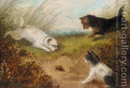 Hunting scene by Edward Armfield - Reproduction Oil Painting