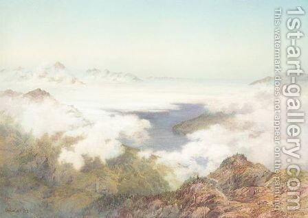 Early morning from the schynuge platte by Arthur Croft - Reproduction Oil Painting
