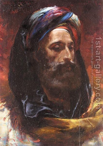 A sheikh of the Sudan by Davidson Knowles - Reproduction Oil Painting