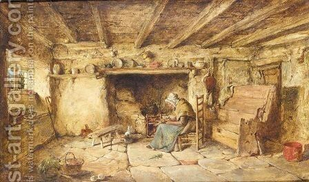 Prepering dinner by James Hardy Jnr - Reproduction Oil Painting