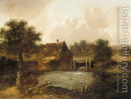 The watermill by (after) Charles Morris - Reproduction Oil Painting
