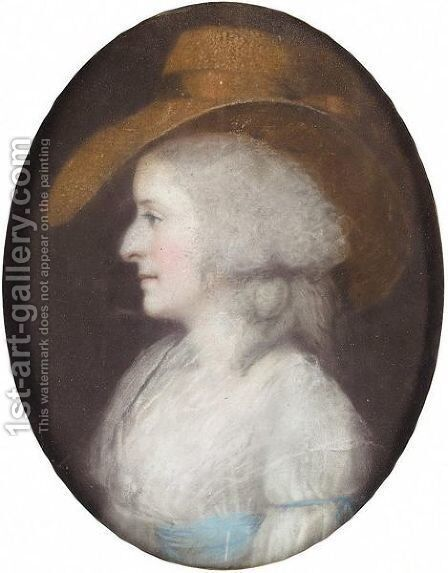 Elizabeth Ottley by (after) James Sharples - Reproduction Oil Painting