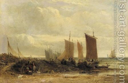 The Sussex coast by Arthur Joseph Meadows - Reproduction Oil Painting
