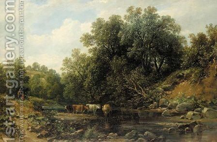Landscape by (after) Alfred Vickers - Reproduction Oil Painting