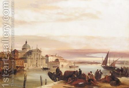 View of the church of San Georgio Maggiore by Edward Pritchett - Reproduction Oil Painting