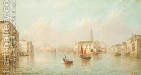 Capriccio view of Venice by James Salt - Reproduction Oil Painting