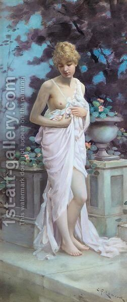The bather by Charles Frederick Lowcock - Reproduction Oil Painting