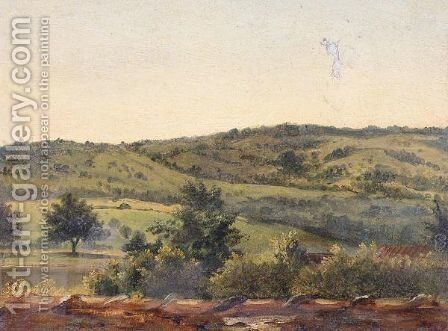 Landscape study by (after) Theodore Rousseau - Reproduction Oil Painting