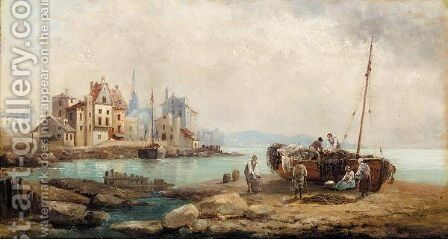 Coastal town, Brittany by Anton Schoth - Reproduction Oil Painting