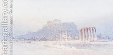 View of the Acropolis 2 by Angelos Giallina - Reproduction Oil Painting