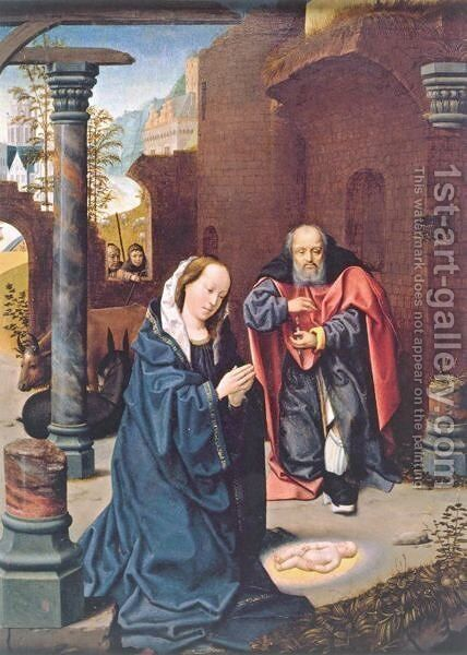 The Nativity by Jan Provoost - Reproduction Oil Painting