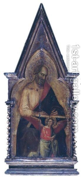 Saint Matthew Pinnacle To The San Giovanni Fuorcivitas Polyptych by Taddeo Gaddi - Reproduction Oil Painting