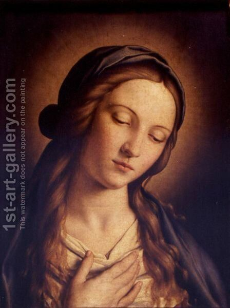 Head Of The Madonna by Giovanni Battista Salvi, Il Sassoferrato - Reproduction Oil Painting