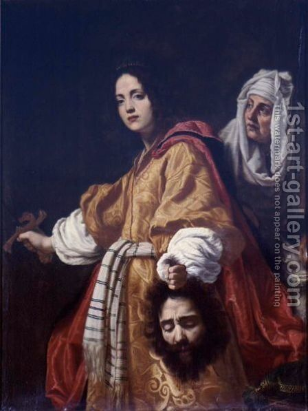 Judith Holding The Head Of Holofernes by Cristofano Allori - Reproduction Oil Painting