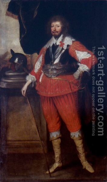 Portrait Of A Nobleman, Said To Be Henry Rich, 1st Earl Of Holland by (after) Dyck, Sir Anthony van - Reproduction Oil Painting