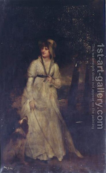 Portrait Of Mrs. Hatfield by Sir William Beechey - Reproduction Oil Painting