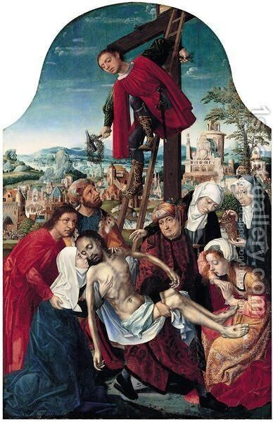 The Deposition Of Christ by Master Of Frankfurt - Reproduction Oil Painting