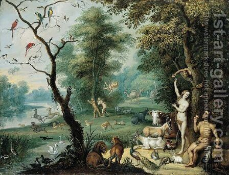 The Fall Of Man by Jan, the Younger Brueghel - Reproduction Oil Painting