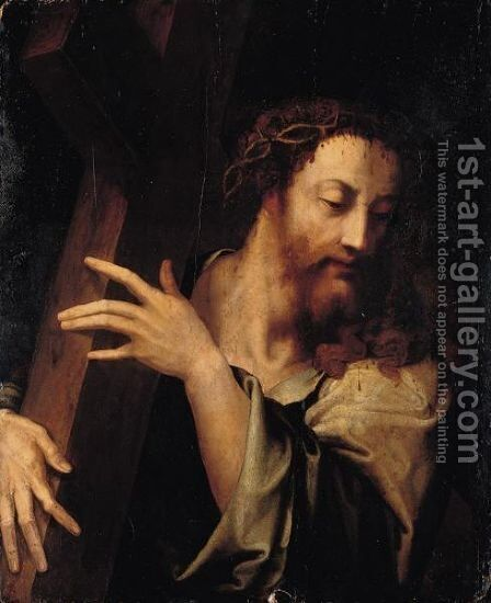 Christ Carrying The Cross 2 by (after) Luis De Morales - Reproduction Oil Painting