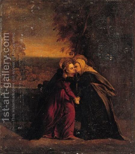 The Visitation by (after) Battista Dossi - Reproduction Oil Painting