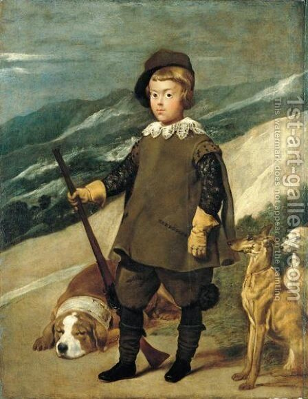 Portrait Of Prince Balthasar Carlos Of Spain As A Hunter by (after) Diego Rodriguez De Silva Y Velazquez - Reproduction Oil Painting